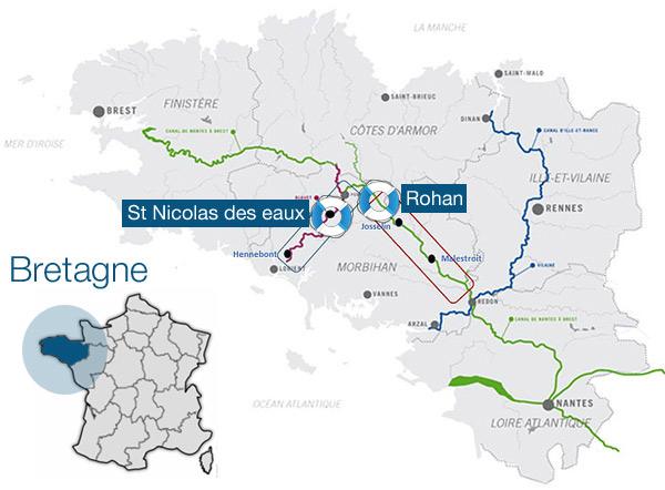 Itinéraires croisière fluviale Rohan